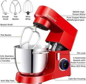 Die Küchenmaschine Phisinic bringt 1800 Watt Leistung.
